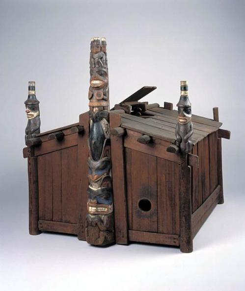 House of Contentment, model carved by George Dickson