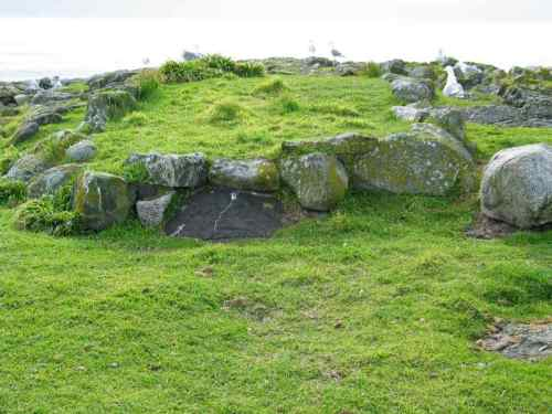 Burial cairn on Race Rocks.  Source: RaceRocks.com