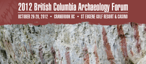 2012 BC Archaeology Forum Announcement screenshot