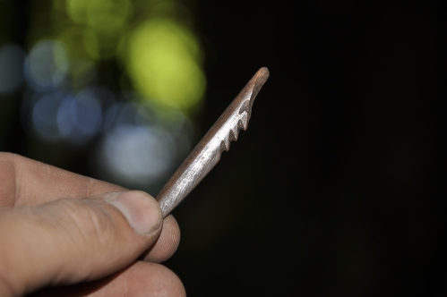 Unilaterally-barbed bone point. Source: http://shishalharchaeology.wordpress.com/