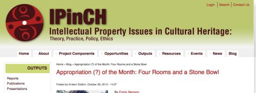 Screenshot of iPINCH website