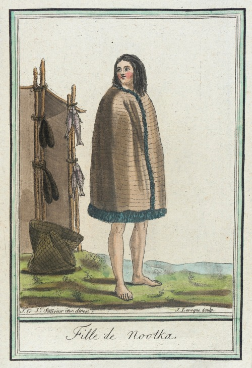 Nootka Sound girl, 1787.  by de Saint-Sauveur, source: LACMA.