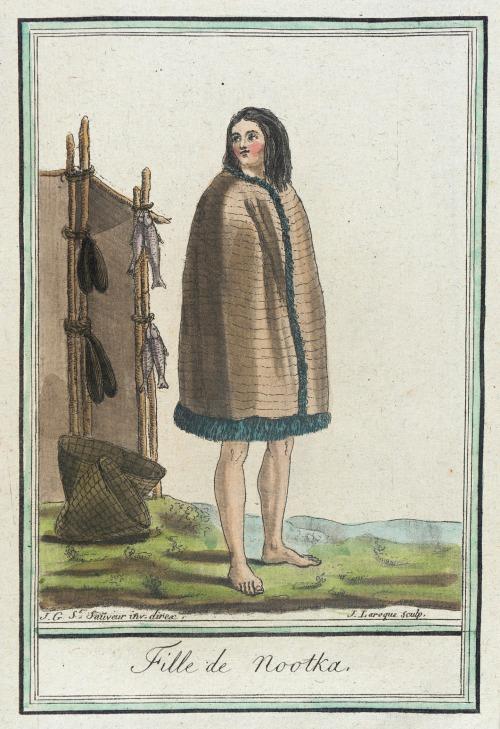 Nootka Sound girl, 1787.  by de Saint-Sauveur, source: LACMA.