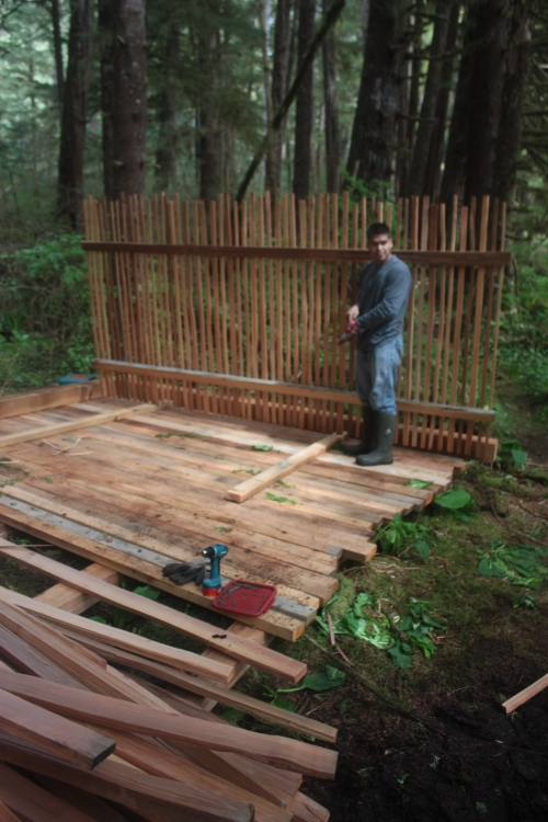Koeye fish weir fence panel under construction. Source: willatlas.com