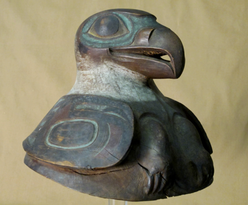 Tlingit war helmet from Springfield Science Museum. Source: SSM.