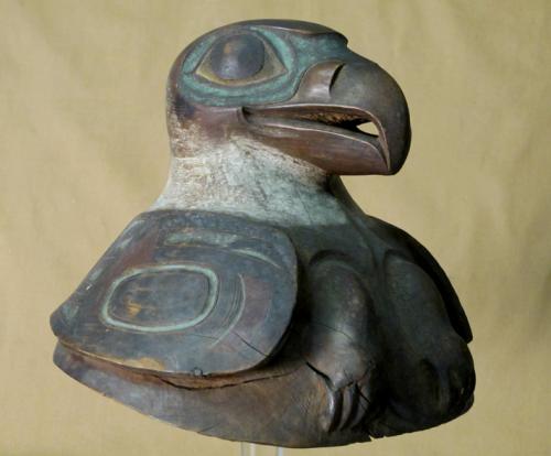 Tlingit war helmet from Springfield Science Museum. Source: SSM.