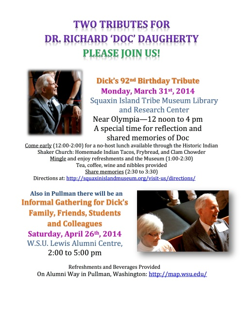 Tribute events for Richard Daugherty.