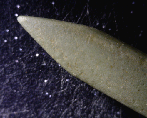 Millennia micro chisel from Prince Rupert.  Width where the bevel starts is about 4 mm. Source: Millennia Research.