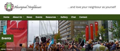 Aboriginal Neighbours Screenshot. http://aboriginalneighbours.org/