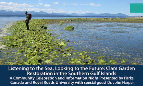 Clam garden event in Sidney. Source: Parks Canada, click for full poster.
