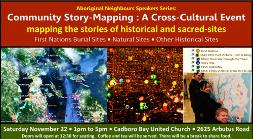 Detail of the Community Mapping event, November 25th, Victoria.