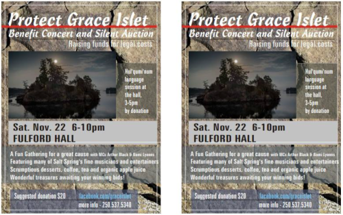 November 22nd, Fundraiser for Grace Islet.