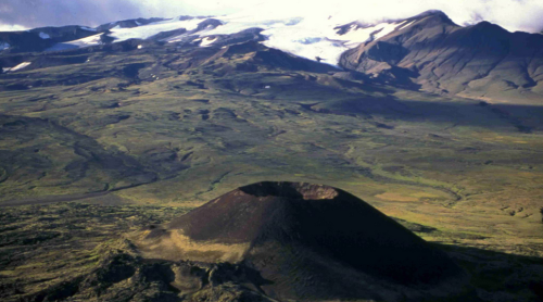 Cinder cone near Mt. Edziza.