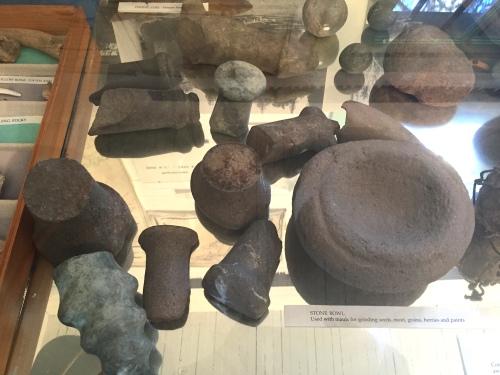 Mayne Island Museum mauls and bowl.