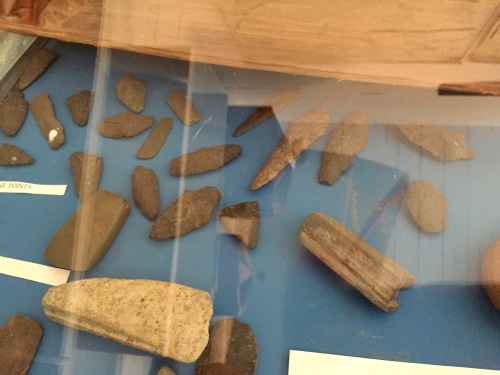 Mayne Island Museum projectile points.