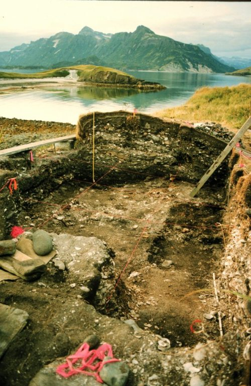 Excavations at the Mink Island site, XMK-164., Katmai, Alaska. Source: ADN.com