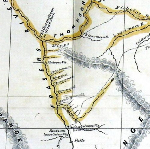 Anderson's Map: 1858 mid-Fraser