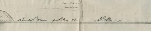 Dixon 1787 Cape St James and Kerouard Island sketch.