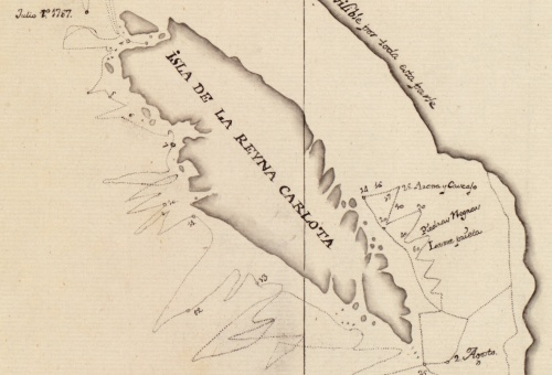 Dixon's 1787 map showing Haida Gwaii as an Island