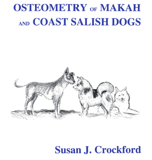 "Cover of Crockford 1997: forensic reconstruction of ""village dog"" (left) and ""wool dog"" (right) based on osteological samples. Source: SFU."